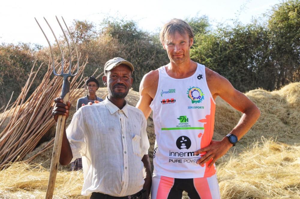 Triatleet In Ethiopië